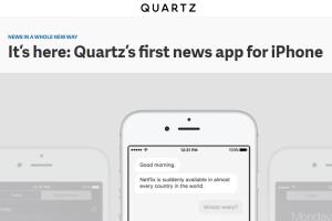 quartz-app-home-page