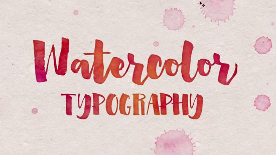 how-to-add-watercolor-textures-to-typography