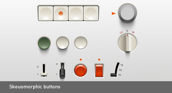 skeuomorphic-buttons